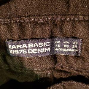 Zara Basic Z1975 Black Denim Overalls XS